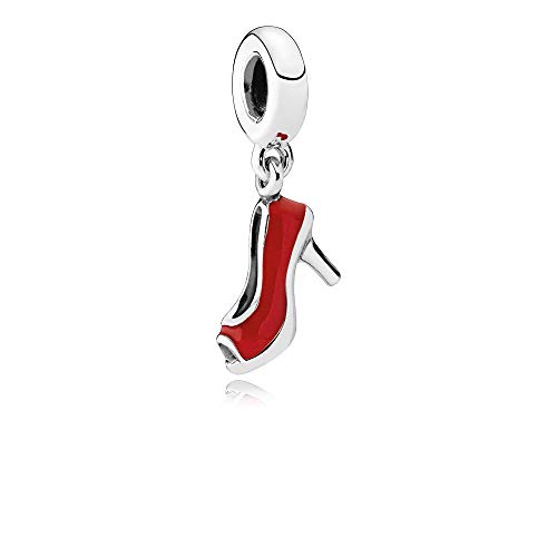 PANDORA Stiletto Dangle Charm, Sterling Silver & Red Enamel 792154EN09
