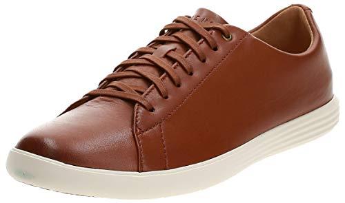 Cole Haan Men's Grand Crosscourt II Sneakers, Tan Leather Burnsh, 11.5