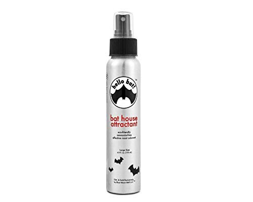 Bat House Attractant Scent Spray - Research-Based Pheromone (No Guano ) for Outside Bats Houses, Outdoors Box Pole, Poles, Large, Small Belfry, 1 2 3 Chamber, Telescoping Boxes Kit, Kits, Attract Bait