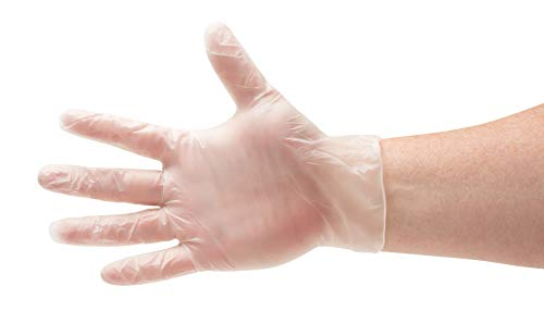 Disposable Food Service Gloves, Vinal Cooking Gloves, Clear, Size Medium, 2.0 Mil Thick, 2000 Pack