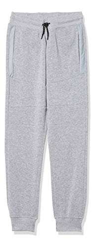 Southpole Boys' Fashion Fleece Jogger Pants in Various Design and Colors, Heather Grey Utility, Large