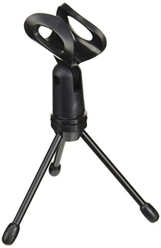 Gator Frameworks Mini Tripod Desktop Microphone Stand with Clip for Wired Mics and Collapsible Legs (GFW-MIC-0250)