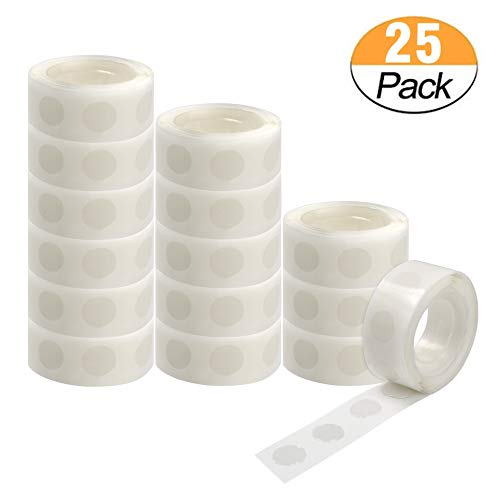 2500 PCS Glue Point Clear Balloon Glue Removable Adhesive Dots Double Sided Dots of Glue Tape for Balloons Party or Wedding Decoration,25 Rolls