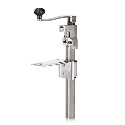 """New Star Foodservice7006841 #1 Manual Table Can Opener with Plated Steel Base For Cans Up to 11"""" Tall"""