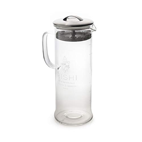 Rishi Tea Simple Brew Loose Leaf Tea Glass Teapot, 13.5 fl-oz (400 ml)