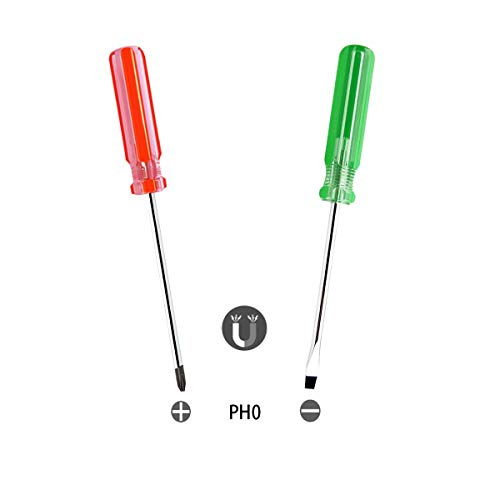 Buspoll Screwdriver combination, magnetic flat head screwdriver Phillips head screwdriver (3mm PH0)