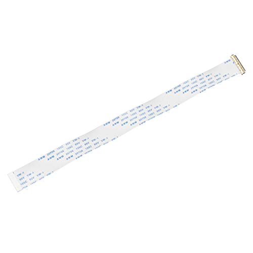 uxcell Flexible Flat Cable, 30 Pins 0.5mm Pitch 200mm FPC FFC Flexible Ribbon Cable for LCD TV Car Audio DVD Player Laptop (B Type)