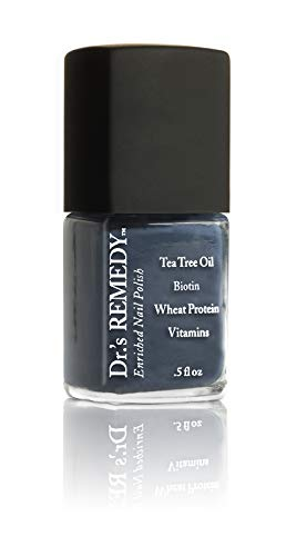 Dr.'s Remedy Organic DEVOTED Denim Nail Polish Long Lasting Antifungal Treatment for Nails and Toenail Fungus formulated by a Physician Restores Healthy Appearance of Discolored Damaged Nails