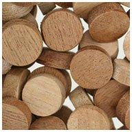 WIDGETCO 5/8' Mahogany Wood Plugs, Face Grain