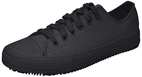 Skechers for Work Women's Gibson-Hardwood Slip-Resistant Sneaker, Black, 7.5 M US