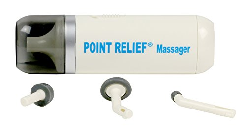 Point Relief Mini-Massager Battery-Powered for Pain Relief, Tension Relief and Massage Therapy, white - 14-1050