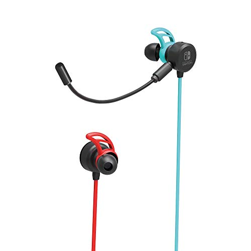 Nintendo Switch Gaming Earbuds Pro with Mixer by HORI - Licensed by Nintendo, Blue