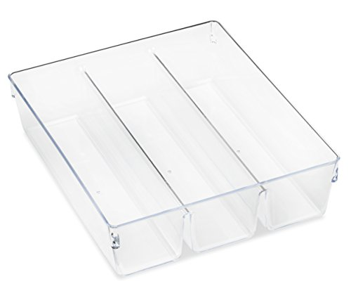 Whitmor Clear 3-Section Drawer Organizer