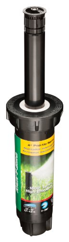 Rain Bird 1804HEVN15 High Efficiency Professional Pop-Up Sprinkler, Adjustable 0° - 360° Pattern, 8' - 15' Spray Distance, 4' Pop-up Height