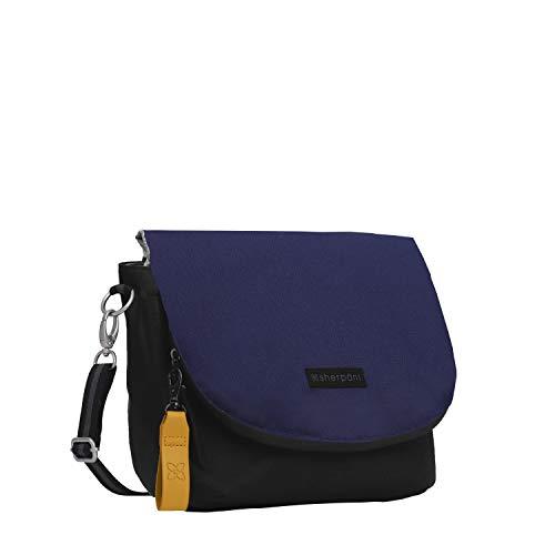 Sherpani Milli, Medium Crossbody Purse, Messenger Bag, Flap Shoulder Bag, Nylon Crossbody Bags for Women, RFID Protection (Atlantic)
