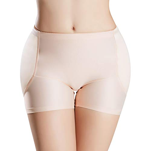 Defitshape Women's Padded Seamless Shapewear Panties Hip Enhancer Underwear Shaper Shorts Nude US 18 (Tag4XL)