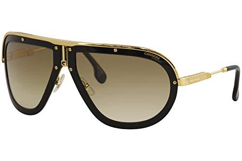 Carrera Americana Shield Sunglasses, Black/Gold/Black, 66 mm