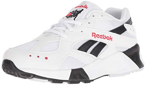 Reebok Men's AZTREK Shoes, White/Black/Excellent Red, 8.5 M US