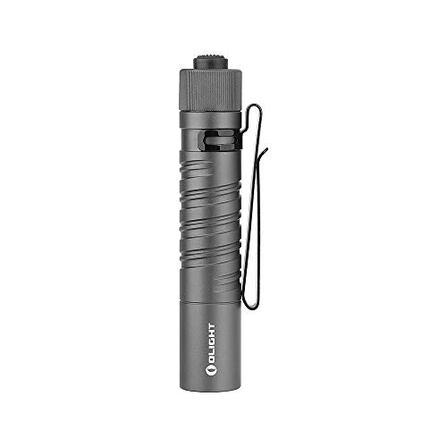 Olight i5T EOS (Limited Edition: Gunmetal Grey) 300 Lumen LED Flashlight, Every Day Carry with AA Alkaline Battery, Anti-slip Tail Switch with Momentary on and 15/300 Lumens Modes Change