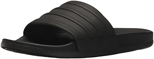 adidas Women's Adilette Comfort Slide Sandal, Black, 8 M US
