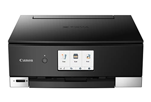 Canon TS8320 All In One Wireless Color Printer For Home | Copier | Scanner | Inkjet Printer | With Mobile Printing, Black, Amazon Dash Replenishment Ready