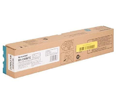 Sharp MX-C40NTC MX-C311 MX-C401 MX-C400P Laser Toner Cartridge (Cyan) in Retail Packaging