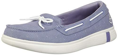 Skechers On The GO Glide Ultra Ocean Sky Womens Boat Shoes Lavender 5.5
