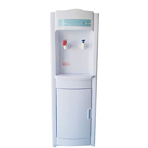 Top Loading Water Dispenser 5 Gallon, Vertical Electric Hot and Cold Water Cooler Dispenser with Storage Cabinet, Child Safety Lock, Dustproof Detachable for Home Office