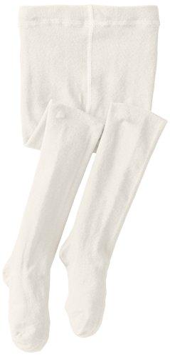 Jefferies Socks Little Girls' Seamless Organic Cotton Tights, Ivory, 4-6 Years