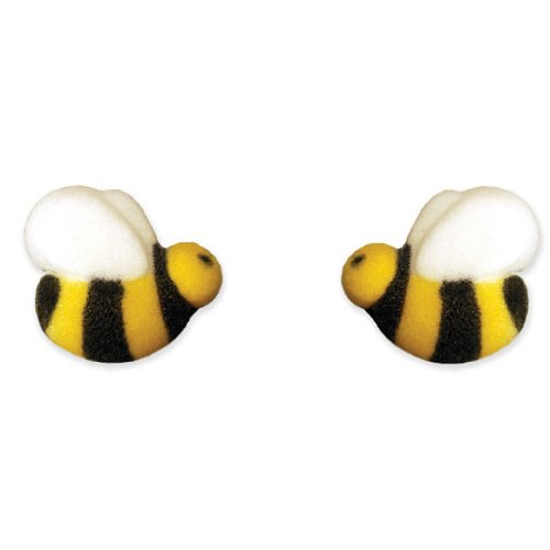 Bumble Bees Sugar Cake Toppers Great for Cupcakes / 48 pcs