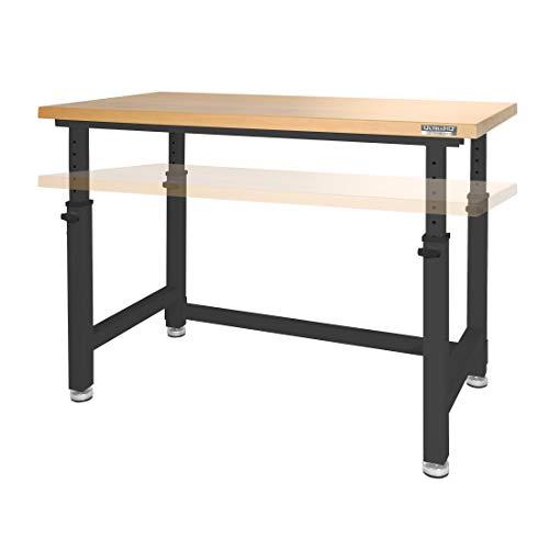 Seville Classics UltraHD Workbench Desk Table, 48' Height Adjustable, Satin Graphite