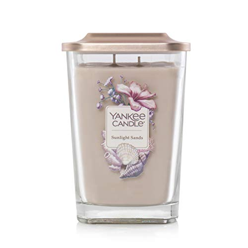 Yankee Candle Elevation Collection with Platform Lid Sunlight Sands Scented Candle, Large 2-Wick, 80 Hour Burn Time