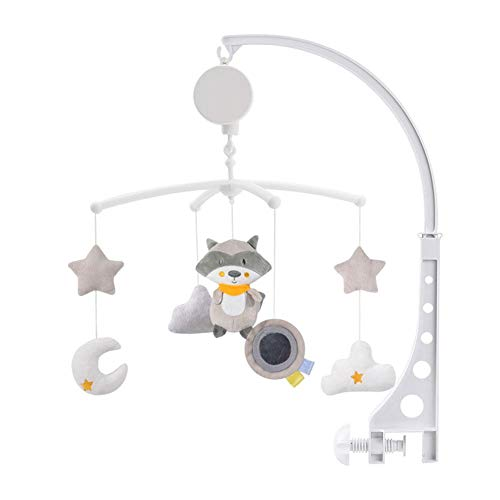 Baby Crib Mobile with Lights and Relaxing Music. Includes Ceiling Light Projector with Stars, Animals. Musical Crib Mobile with Timer. Nursery Toys for Babies Ages 0 to 24 Months