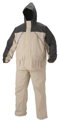 Coleman .20mm PVC/Nylon Rain Suit,Black/Tan,Medium