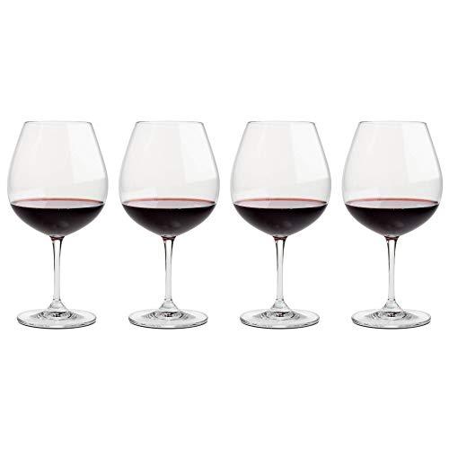 Riedel Vinum Pinot Noir (Burgundy Red) Glasses, Set of 4