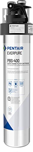 Everpure PBS-400 Drinking Water Filter System for Prep Sink and Wet Bar (EV9270-85).  Quick Change Cartridge System. Commercial Grade Water Filtration and Lead Reduction
