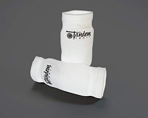 Tandem Sport Volleyball Elbow Pads - Avoid Floor Burns & Bruising - One Size Fits Most - 2 Pads, White