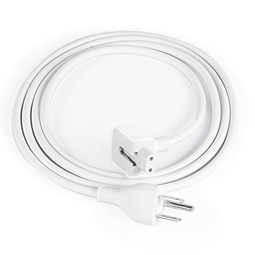 Power Adapter Extension Cable Compatible for Mac Book Pro, Mac Book, Mac Book Air, Us Plug 6 ft, White