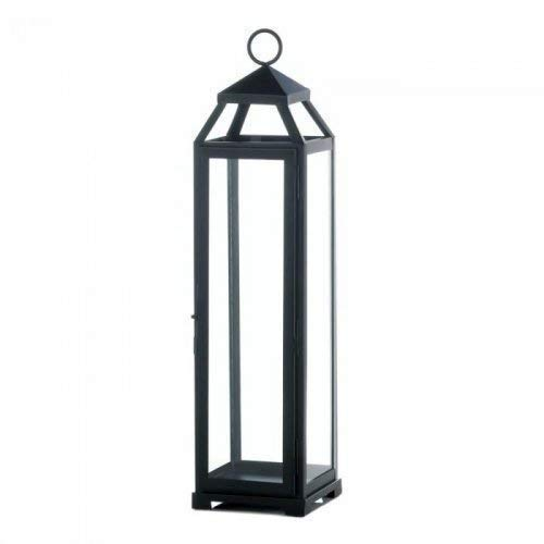 Zings & Thingz 57072814 Lean & Sleek Extra Large Lantern, Black