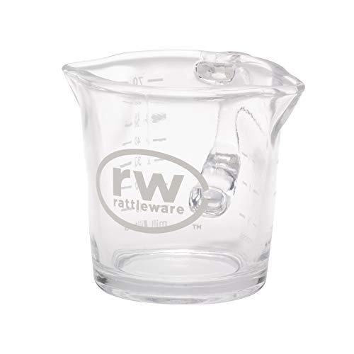 Rattleware 3-Ounce RW Logo Shot Pitcher, Glass