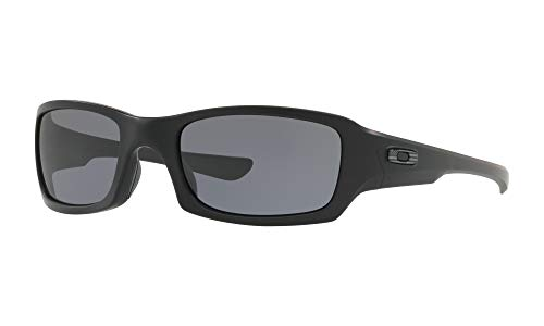 Oakley Men's OO9238-3354 Standard Issue Fives Squared Flag Collection Sunglasses,OS,Matte Black/Grey