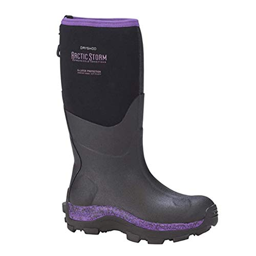 DRYSHOD Womens Arctic Storm Extreme-Cold Conditions Winter Boot, Black/Purple, 7