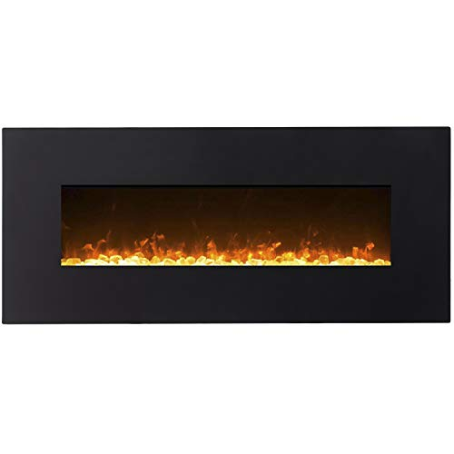 Regal Flame Orion Black 50' Crystal Ventless Heater Electric Wall Mounted Fireplace Better Than Wood Fireplaces, Gas Logs, Fireplace Inserts, Log Sets, Gas Fireplaces, Space Heaters, Propane