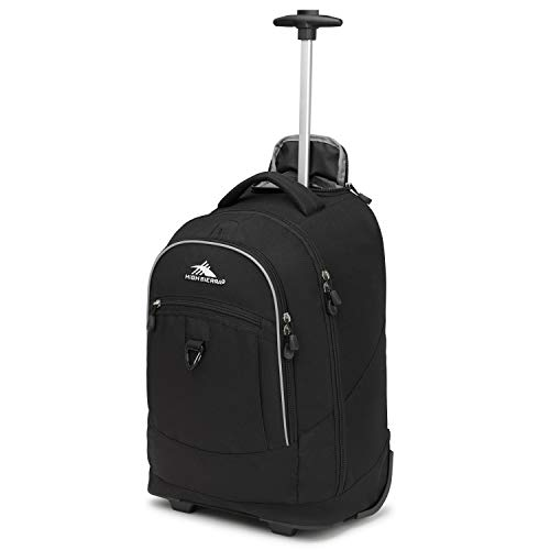 High Sierra Chaser Wheeled Laptop Backpack, Black, 20 x 13.5 x 8-Inch