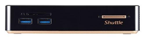 Shuttle XPC Nano NC01U5 Intel Broadwell i5-5200U Mini Barebone PC, Support 4K Ultra HD Video, DDR3L SODIMM Max 16GB
