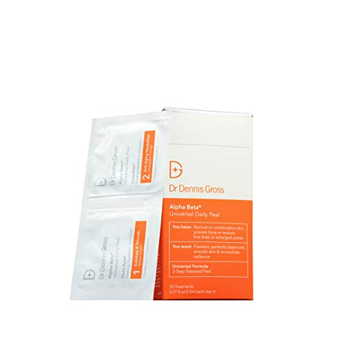 Dr. Dennis Gross Alpha Beta Universal Daily Peel: for Uneven Tone or Texture and Fine Lines or Enlarged Pores, 30 Packettes