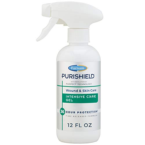 Farnam PuriShield Wound & Skin Care Intensive Care Gel Promotes Healing with Long Lasting Relief and Protection 12 Ounces