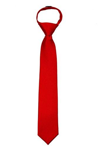 ZIP-ADF-24 - Mens Solid Color Zipper Necktie