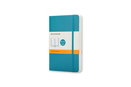 Moleskine Classic Notebook, Soft Cover, Pocket (3.5' x 5.5') Ruled/Lined, Underwater Blue, 192 Pages
