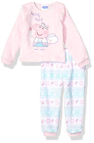 Peppa Pig Girls' Toddler Plush Fleece Pajama Set, Peppa Fairy, 2T